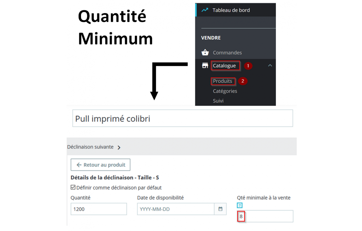 Multiple quantity depending on the minimum quantity - Addons Prestashop
