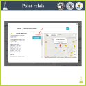 The customer also chooses the relay point of his choice when selecting a carrier via an interactive map. - Addons Prestashop