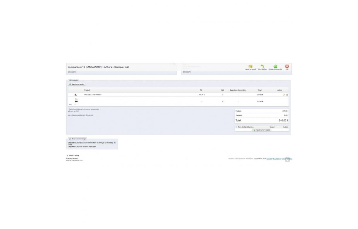 Upload pdf et zip sur les pages produits