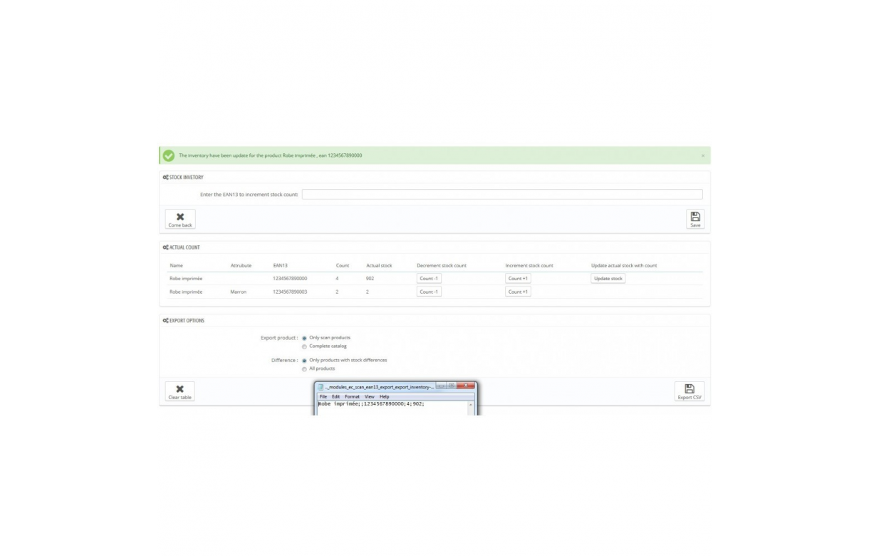 EAN 13 barcodes scanner - Addons Prestashop