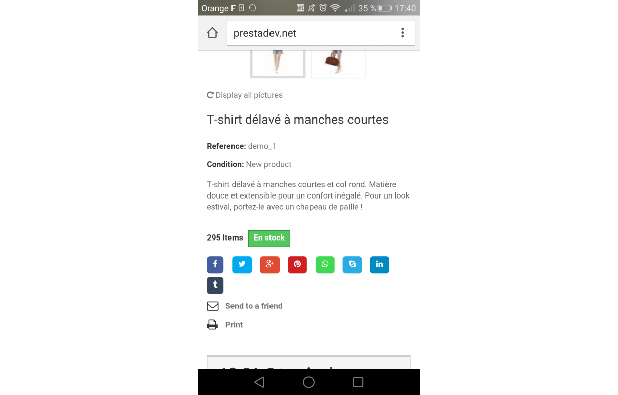 WhatsApp and social sharing module - Addons Prestashop