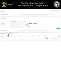 Paramétrages association transporteur et frais de transport